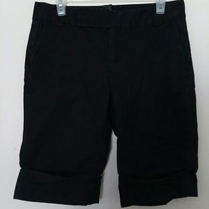 Banana Republic black stretch cuffed chino shorts